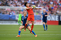 Cleveland, Ohio - Tuesday June 12, 2018: Wang Shanshan during an international friendly match between the women's national teams of the United States (USA) and China PR (CHN) at FirstEnergy Stadium.