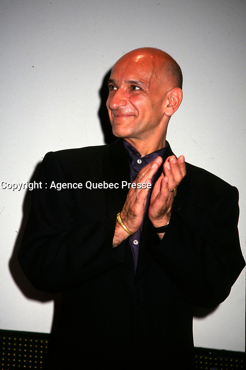 President of the Jury, actor Ben Kingsley (R) attend the opening of the World Film Festival at the end of August 1993 (exact date unknown) at place-des-arts.<br /> <br /> <br />  Ben Kingsley has signed on to a TV series that will profile King Tutankhamun and be partially filmed in Canada, this fall 2014 <br /> <br /> File Photo : Agence Quebec Presse - Pierre Roussel