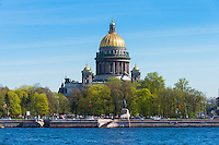 Saint Isaak's Orthodox Cathedral in Saint Petersburg, Russia