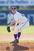 High Point Panthers relief pitcher Cas Silber (29) in action against the Bowling Green Falcons at Willard Stadium on March 9, 2014 in High Point, North Carolina.  The Falcons defeated the Panthers 7-4.  (Brian Westerholt/Four Seam Images)