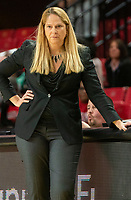 COLLEGE PARK, MD - NOVEMBER 20: Maryland coach Brenda Frese during a game between George Washington University and University of Maryland at Xfinity Center on November 20, 2019 in College Park, Maryland.