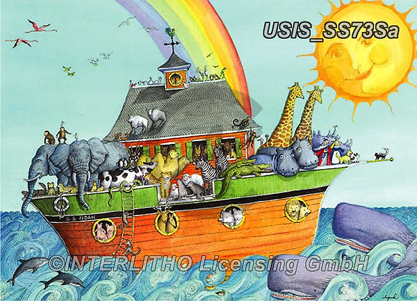 Ingrid, CUTE ANIMALS, LUSTIGE TIERE, ANIMALITOS DIVERTIDOS, puzzle, paintings+++++,USISSS73SA,#ac#, EVERYDAY ,puzzle,puzzles, arche noah