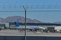 Las Vegas NV - February 22, 2021:  777s suspended by Boeing after United Airlines engine failure at McCarran International Airport in Las Vegas, Nevada on February 22, 2021. Credit:DeeCee Carter/MediaPunch
