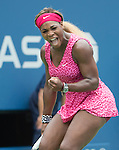 Serena Williams (USA) defeats Kaia Kanepi (EST) 6-3, 6-3 at the US Open being played at USTA Billie Jean King National Tennis Center in Flushing, NY on September 1, 2014