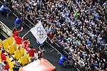 Japan Delegation (JPN), <br /> OCTOBER 7, 2016 :<br /> Japanese medalists of Rio 2016 Olympic and Paralympic Games wave to spectators during a parade from Ginza to Nihonbashi, Tokyo, Japan.<br /> (Photo by AFLO SPORT)