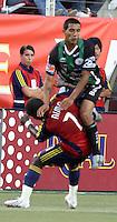 Alex Nimo and Edgar Castillo in the 4-1  Santos Laguna win at Rice Eccles Stadium in Salt Lake City, Utah on  July 9, 2008.