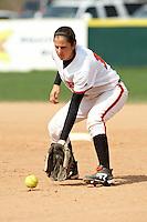 SAN ANTONIO, TX - MARCH 8, 2009: The University of Texas of the Permian Basin Falcons vs. The University of the Incarnate Word Cardinals Softball at Cardinals Field. (Photo by Jeff Huehn)