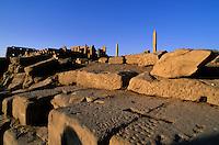 Obelisks of Tuthmosis I and Queen Hatsheput at Karnak Temple, Luxor, Egypt.