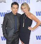 Christine Taylor and  Ben Stiller at Twentieth Century Fox L.A. Premiere of The Watch held at The Grauman's Chinese Theatre in Hollywood, California on July 23,2012                                                                               © 2012 Hollywood Press Agency