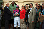 Connections of Itsmyluckyday Eddie Plesa Jr, in the winners cirlce after winning the Holy Bull (G3) at Gulfstream Park.  Hallandale Beach Florida. 01-26-2013
