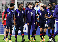 FORT LAUDERDALE, FL - DECEMBER 09: The United States men's national team celebrates it's victory during a game between El Salvador and USMNT at Inter Miami CF Stadium on December 09, 2020 in Fort Lauderdale, Florida.