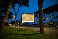 Courage.<br /> <br /> Lungotevere.<br /> <br /> Rome, 12/03/20. Rome's Olympic Village district under the Italian Government lockdown for the Outbreak of the Coronavirus SARS-CoV-2 - COVID-19. On 22 March, the Italian PM Giuseppe Conte signed a new Decree Law which suspends non-essential industry productions and contains the list of allowed working activities, which includes Pharmaceutical & food Industry, oil & gas extraction, clothes & fabric, tobacco, transports, postal & banking services (timetables & number of agencies reduced), delivery, security, hotels, communication & info services, architecture & engineer, IT manufacturers & shops, call centers, domestic personnel (1.).<br /> Updates: Italy: 22.03.20, 6:00PM: 46.638 positive cases; 7.024 recovered; 5.476 died.<br /> <br /> The Rome's Olympic Village (1957-1960) was designed by: V. Cafiero, A. Libera, A. Luccichenti, V. Monaco, L. Moretti. «Built to host the approximately 8,000 athletes involved in the 1960 Olympic Games, Rome's Olympic Village is a residential complex located between Via Flaminia, the slopes of Villa Glori and Monti Parioli. It was converted into public housing [6500 inhabitants, ndr] at the end of the sporting event. The intervention is an example of organic settlement, characterized by a strong formal homogeneity, consistent with the Modern Movement's principles of urbanism. The different architectural structures are made uniform by the use of some common elements: the pilotis, ribbon windows, concrete stringcourses, and yellow brick curtain covering. At the center of the neighborhood, the Corso Francia viaduct - a road bridge about one kilometer long - was built by P.L. Nervi[…]» (2.).<br /> <br /> Info COVID-19 in Italy: http://bit.do/fzRVu (ITA) - http://bit.do/fzRV5 (ENG)<br /> 1. March 22nd Decree Law http://bit.do/fFwJn (ITA)<br /> 2. (Atlantearchitetture.beniculturali.it MiBACT, ITA - ENG) http://bit.do/fFw3H<br /> 12.03.20 Rome's Lockdown for the Outbreak of the Coronavirus SARS-