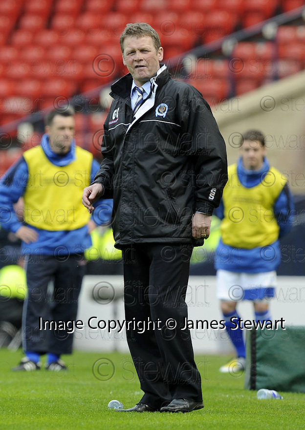 12/04/2008    Copyright Pic: James Stewart.File Name : sct_jspa40_qots_v_aberdeen.QUEEN OF THE SOUTH MANAGER GORDON CHISHOLM WATCHES HIS SIDE BEAT ABERDEEN.James Stewart Photo Agency 19 Carronlea Drive, Falkirk. FK2 8DN      Vat Reg No. 607 6932 25.Studio      : +44 (0)1324 611191 .Mobile      : +44 (0)7721 416997.E-mail  :  jim@jspa.co.uk.If you require further information then contact Jim Stewart on any of the numbers above........