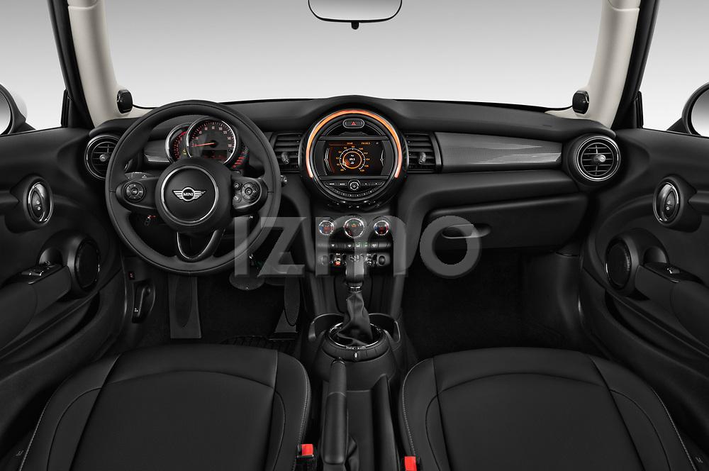 Stock photo of straight dashboard view of 2017 MINI Cooper 3-door 3 Door Hatchback Dashboard