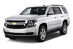 Front three quarter view of a 2017 Chevrolet Tahoe 2WD LT 5 Door SUV