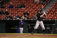May 3, 2010:  Pinch Hitter Josh Anderson of the Louisville Bats at bat in front of a thin crowd late in a game vs. the Buffalo Bisons at Coca-Cola Field in Buffalo, NY.   Louisville defeated Buffalo by the score of 20-7.  Photo By Mike Janes/Four Seam Images