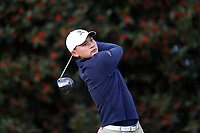 PINEHURST, NC - MARCH 02: George Duangmanee of the University of Virginia tees off on the first hole at Pinehurst No. 2 on March 02, 2021 in Pinehurst, North Carolina.