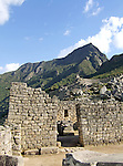 Structure at the Lost Incan City of Machu Picchu near Cusco, Peru.