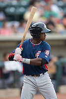 Victor Robles (16) of the Potomac Nationals at bat against the Winston-Salem Dash at BB&T Ballpark on July 15, 2016 in Winston-Salem, North Carolina.  The Dash defeated the Nationals 10-4.  (Brian Westerholt/Four Seam Images)