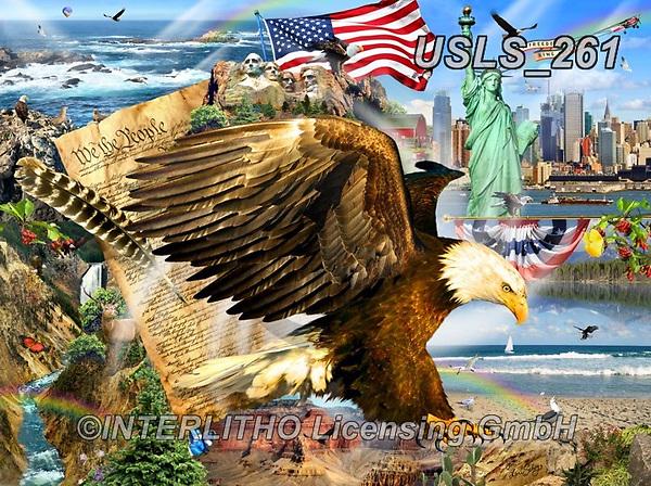 Lori, LANDSCAPES, LANDSCHAFTEN, PAISAJES, paintings+++++Patriotic Eagle_10_72,USLS261,#l#, EVERYDAY ,puzzle,puzzles