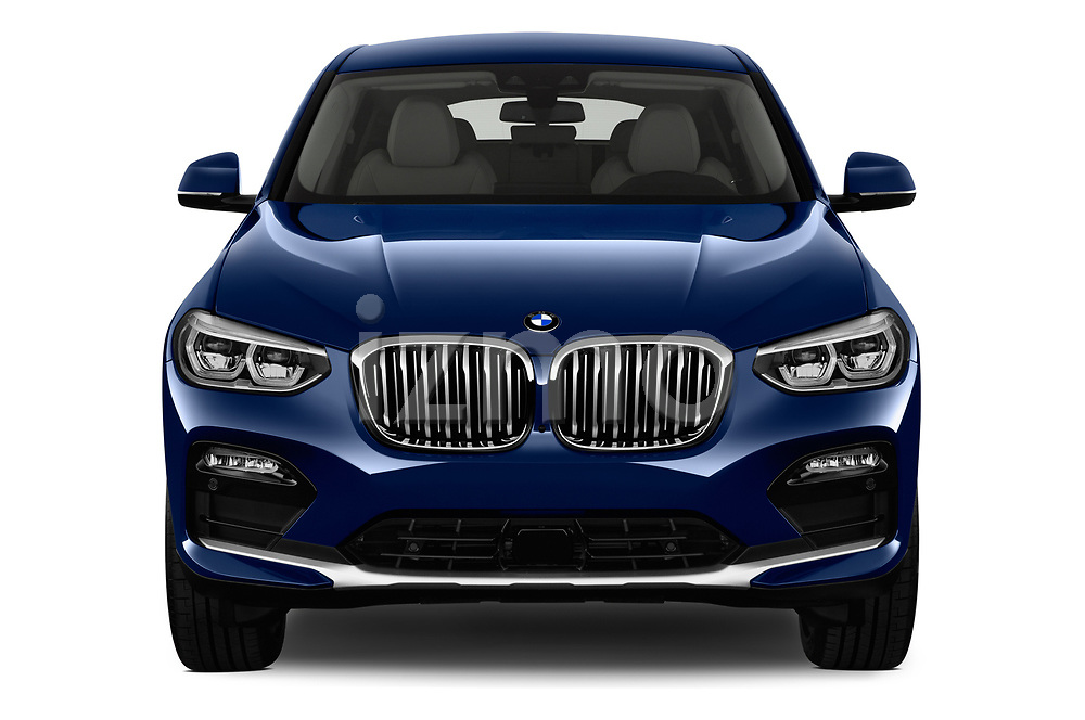 Car photography straight front view of a 2018 BMW X4 x Line 5 Door SUV