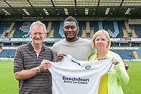 Aaron Pierre of Wycombe Wanderers during the Wycombe Wanderers 2016/17 Team & Individual Squad Photos at Adams Park, High Wycombe, England on 1 August 2016. Photo by Jeremy Nako.