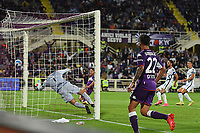 21th September 2021; Stadio Artemio Franchi, Firenze, Italy; Italian Serie A football, AC Fiorentina versus  FC Inter; Riccardo Sottil of Fiorentinao scores the goal for 1-0 in minute 23