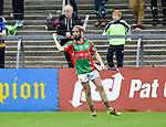 Ronan  Donnell of  Clooney-Quin celebrates his goal against  Sixmilebridge during their senior county final at Cusack Park. Photograph by John Kelly.