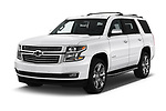 2018 Chevrolet Tahoe Premier 2WD 5 Door SUV angular front stock photos of front three quarter view