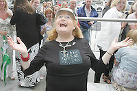 28/6/2010. The X Factor hopeful Angela Doonan is pictured outside the Dublin Convention center Spencer Dock. Picture James Horan/Collins.