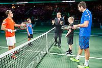 Rotterdam, The Netherlands, February 12, 2016,  ABNAMROWTT, Philipp Kohlschreiber (GER), Marin Cilic (CRO)<br /> Photo: Tennisimages/Henk Koster