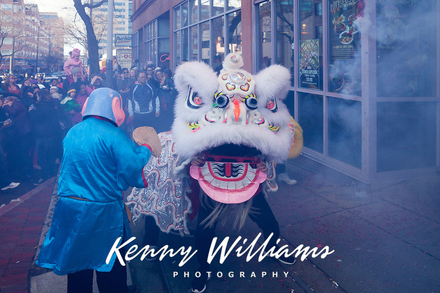 Lion Dance, Chinese New Year 2015, Chinatown, Seattle, WA, USA.