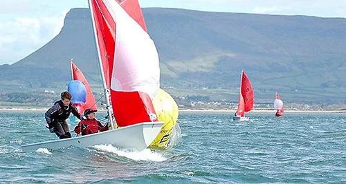 Mirror dinghy racing on Sligo Bay
