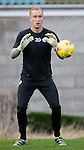 St Johnstone Training…..21.10.16<br />Keeper Mark Hurst pictured during training ahead of Sunday's game against local rivals Dundee<br />Picture by Graeme Hart.<br />Copyright Perthshire Picture Agency<br />Tel: 01738 623350  Mobile: 07990 594431