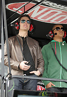 DAYTONA BEACH, FL - FEBRUARY 15: Actor Tom Cruise (L) along with adopted son Conner Cruise attend the Daytona 500 at Daytona International Speedway on February 15, 2009 in Daytona Beach, Florida (Photo by Storms Media Group)<br /> <br /> People:   Tom Cruise, Conner Cruise