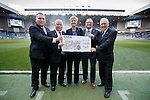 RSEA Erskine appeal present a cheque for £43,549 at half-time taking the total raised to over £600,000