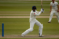 15th April 2021; Emirates Old Trafford, Manchester, Lancashire, England; English County Cricket, Lancashire versus Northants; Tom Bailey of Lancashire drives through the offside