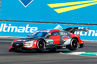 23rd August 2020, Lausitz Circuit, Klettwitz, Brandenburg, Germany. The Deutsche Tourenwagen Masters (DTM) race at Lausitz;  Loic Duval FRA, Audi Team Phoenix, Audi RS5 DTM over the curbing