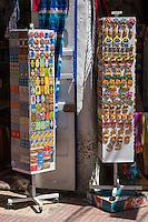 Essaouira, Morocco.  Souvenir Pins, Hands of Fatima, Outside a Shop, Avenue Mohammed Zerktouni.