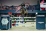 Jane Richard Philips of Switzerland rides Pablo de Virton competes at the HKJC Trophy during the Longines Hong Kong Masters 2015 at the AsiaWorld Expo on 13 February 2015 in Hong Kong, China. Photo by Xaume OIleros / Power Sport Images