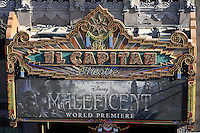 """LOS ANGELES - MAY 28:  El Capitan Marquee at the """"Maleficent"""" World Premiere at El Capitan Theater on May 28, 2014 in Los Angeles, CA"""