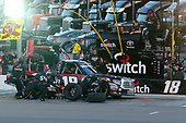 NASCAR Camping World Truck Series<br /> Las Vegas 350<br /> Las Vegas Motor Speedway, Las Vegas, NV USA<br /> Saturday 30 September 2017<br /> Noah Gragson, Switch Toyota Tundra pit stop<br /> World Copyright: Russell LaBounty<br /> LAT Images