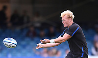 25th September 2021; The Recreation Ground, Bath, Somerset, England; Gallagher Premiership Rugby, Bath versus Newcastle Falcons; Miles Reid of Bath warms up