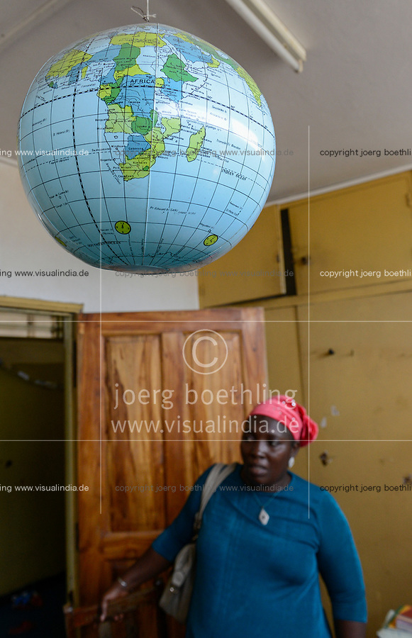 TOGO, Lome, room with hanging globe