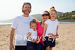 Enjoying the afternoon in Inch beach on Saturday, l to r: David, Cara, Laura and Ayla McCarthy.