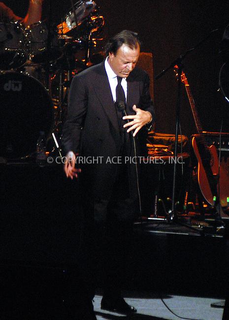 La Gira Mundial 2003 Concert with Julio Iglesias. New York, August 19, 2003. Please byline: NY Photo Press.   ..*PAY-PER-USE*      ....NY Photo Press:  ..phone (646) 267-6913;   ..e-mail: info@nyphotopress.com