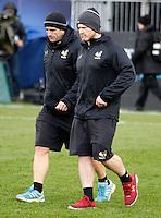 Photo: Richard Lane/Richard Lane Photography. Bath Rugby v Wasps. Aviva Premiership. 04/02/2017. Wasps' coaches, Phil Blake and Andy Titterrell.