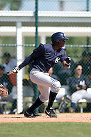 Outfielder Kendall Coleman (34) of the New York Yankees organization during a minor league spring training game against the Pittsburgh Pirates on March 22, 2014 at Pirate City in Bradenton, Florida.  (Mike Janes/Four Seam Images)