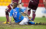 St Johnstone v Hearts.....18.01.14   SPFL<br /> Stev ie May scores his second goal<br /> Picture by Graeme Hart.<br /> Copyright Perthshire Picture Agency<br /> Tel: 01738 623350  Mobile: 07990 594431