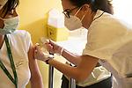 Emergenza Coronavirus Ospedale Maggiore di Cremona un'infermiera riceve il vaccino contro il Covid-19 cronaca Cremona 25/01/2021 Coronavirus emergency Ospedale Maggiore di Cremona a nurse recived the vaccine against Covid-19 chronicle Cremona 25/01/2021
